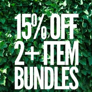 Bundle and save!! 15% off on 2 or more items!